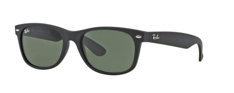 Слънчеви очила Ray-Ban RB2132 622 Wayfarer Black Matt Little Left