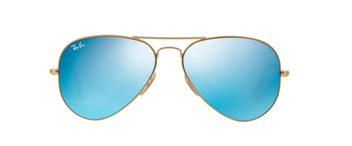 Ray-Ban RB3025 112/17 Aviator Gold Blue Mirror