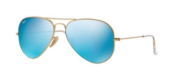 Слънчеви очила Ray-Ban RB3025 112 17 Aviator Gold Blue Mirror Little Left