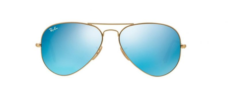 Ray-Ban RB3025 112 17 Aviator Gold Blue Mirror