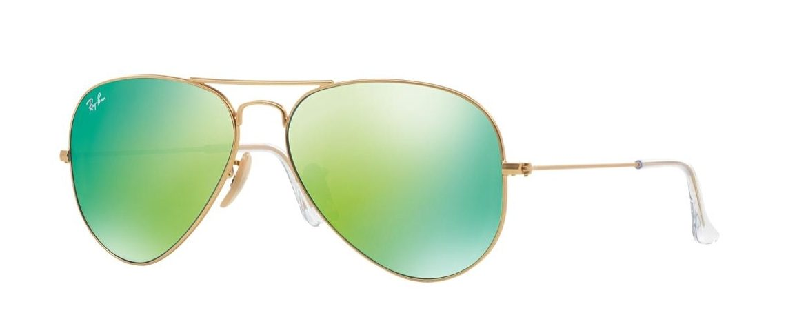 Ray-Ban RB3025 112/19 Aviator Gold Green Mirror