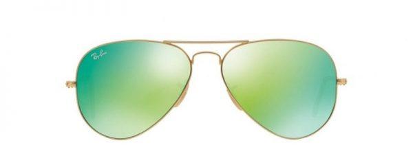 Слънчеви очила Ray-Ban RB3025 112 19 Aviator Gold Green Mirror