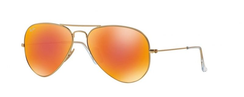 Слънчеви очила Ray-Ban RB3025 112 69 Aviator Gold Orange Mirror Little Left