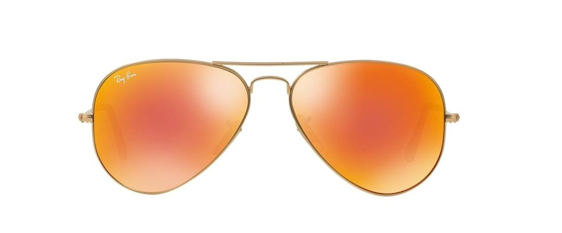 Ray-Ban RB3025 112/69 Aviator Gold Orange Mirror