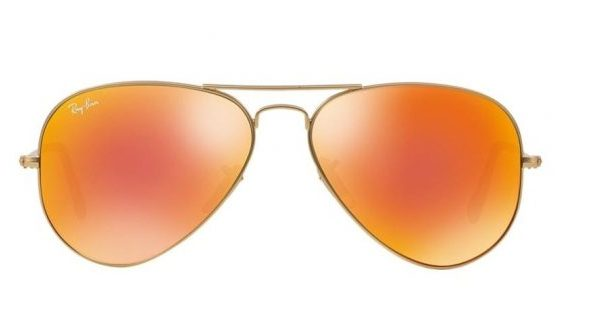 Ray-Ban RB3025 112 69 Aviator Gold Orange Mirror (2)