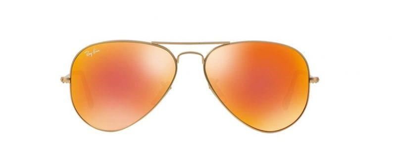 Ray-Ban RB3025 112 69 Aviator Gold Orange Mirror (2)