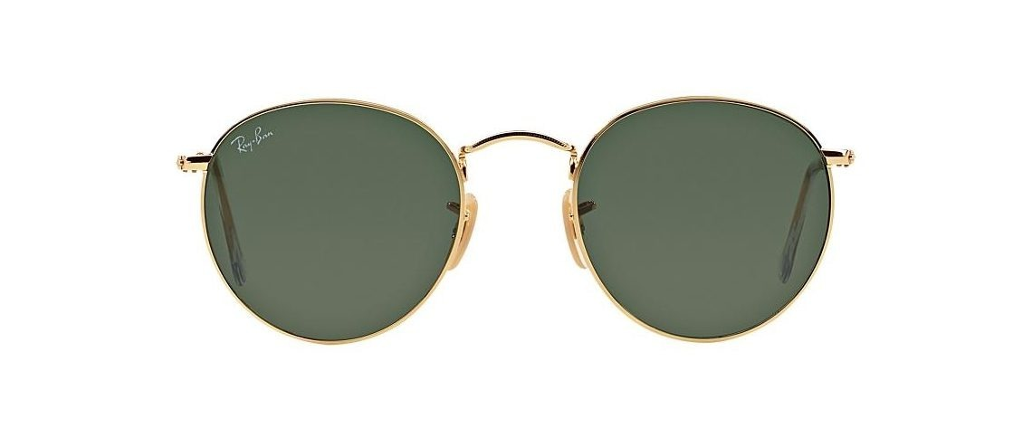 Ray-Ban RB3447 001 Round Metal Gold
