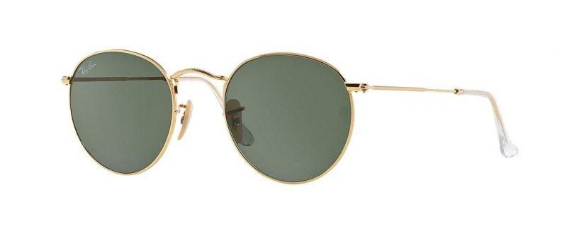 Слънчеви очила Ray-Ban RB3447 001 Round Metal Gold little left