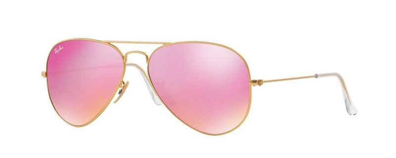 Слънчеви очила Ray-Ban RB3025 112/4T Aviator Pink Mirror little left
