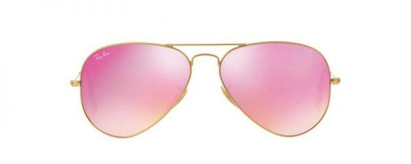 Слънчеви очила Ray-Ban RB3025 112/4T Aviator Pink Mirror