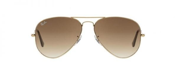 Слънчеви очила Ray-Ban RB3025 001-51 Aviator Gold Brown front