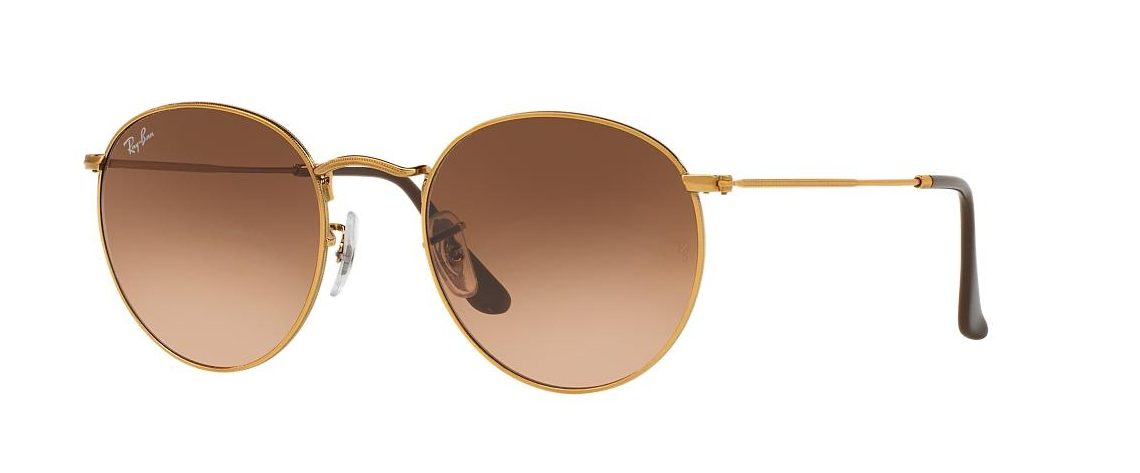 Ray-Ban RB3447 9001 Round Metal Gold