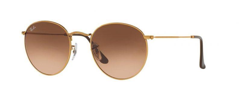 Слънчеви очила Ray-Ban RB3447 9001 Round Metal Gold little left