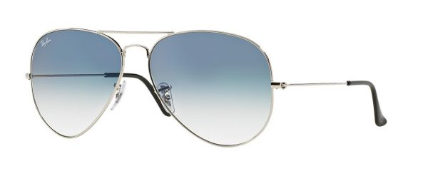 RB 3025 0033F AVIATOR LARGE METAL GRADIENT